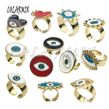 10pcs Mix design rings Enamel rings simple cuff rings devil eye accessories for women new style jewels eye rings for women 5922
