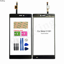 Touch Screen For Metal C1391 Touch Panel Front Glass Digitizer Lens Sensor Touchscreen Replacement Part 3M Glue