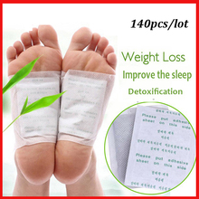 140pcs Drop shipping Detox Foot Patch Bamboo Pads Patches With Adhersive Foot Care Improve Sleep  (70patches+70 pcs Adhersives)