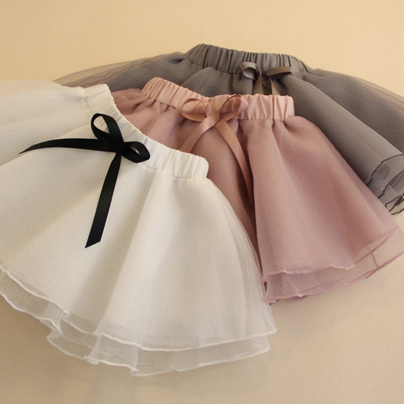 Baby Girl Tutu Skirt Cute Kids Princess Tulle Skirts Summer Children Party Bow-Knot Mesh Skirt Girls Dance Ballet Pettiskirt