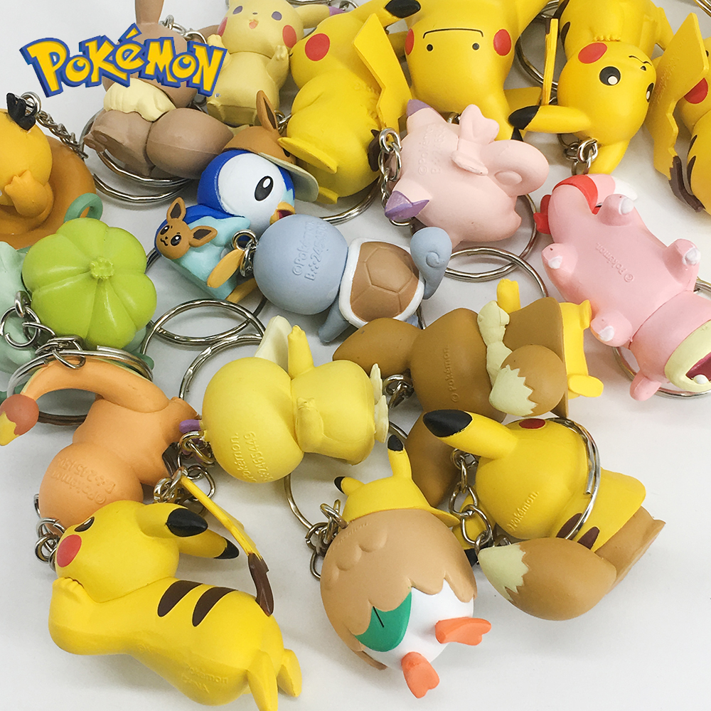 DIY Pokemon Keychain Pikachu Action Figure Pokemon Elf Series Children Toy Christmas Gifts 6