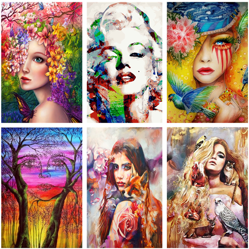 DIY Number Painting Abstract Figure Paintings By Numbers With Acrylic Paint Picture For Living Room Oil Painting Adults Wall Art