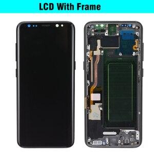 Image 3 - 100% מקורי סופר AMOLED S8 LCD עם מסגרת לסמסונג גלקסי S8 G950 G950F תצוגת S8 בתוספת G955 G955F מגע מסך Digitizer