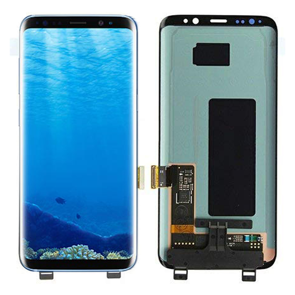 AMOLED Defective LCD For Samsung <font><b>Galaxy</b></font> <font><b>S8</b></font> LCD <font><b>S8</b></font> Plus G950 G955 <font><b>Display</b></font> Touch Screen Digitizer Assembly With Frame image