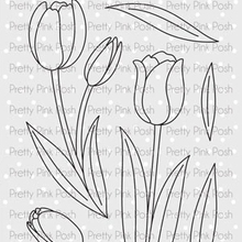 Tulip Metal cutting dies and Clear Stamps Transparent Silicone Seal for DIY scrapbooking photo album Decorative