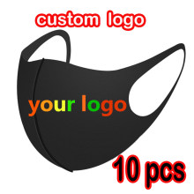 10pcs Custom masks can be reused and washable protective cotton face mask printing logo free design