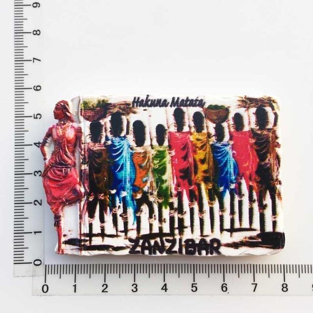 3d Resin Magnets Tanzania Africa Cultural Landscape Tourism Fridge Magnet Souvenir Home Decoration Accessories gift ideas 6