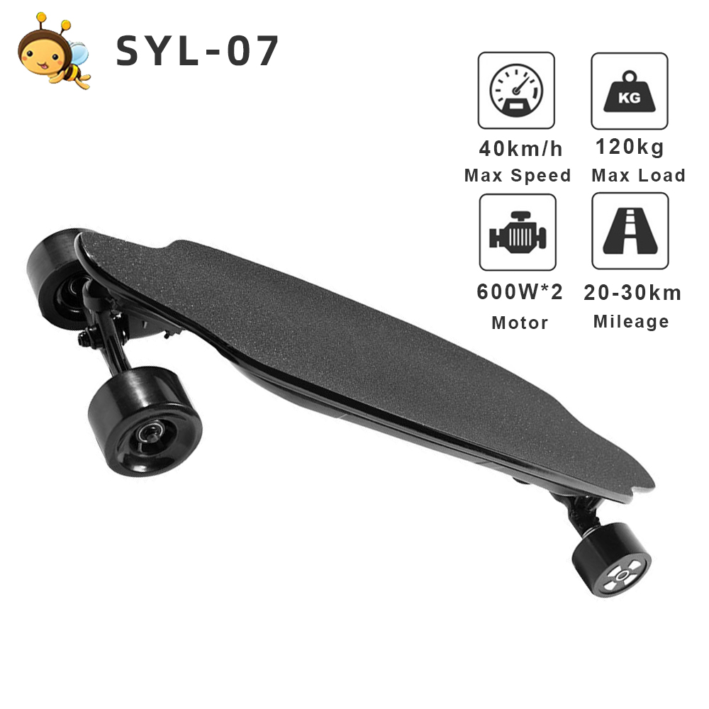 SYL-07 <font><b>Electric</b></font> Skateboard Double <font><b>Motor</b></font> 600W*2 Max Speed 40km/h With Remote Control e <font><b>scooter</b></font> 6.6AH Battery <font><b>Electric</b></font> <font><b>Scooter</b></font> image