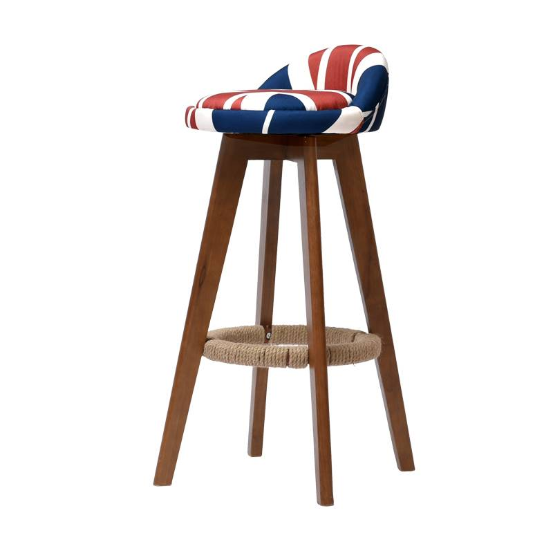 Solid Wood Bar Stools  Chair   High  Simple Modern   Home Front Desk