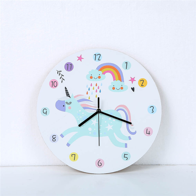 Rainbow Horse Wall Clocks Simple Life Design Silent Household Cafe Office Living Room Girl Bedroom Large Home Decor Watch Gift