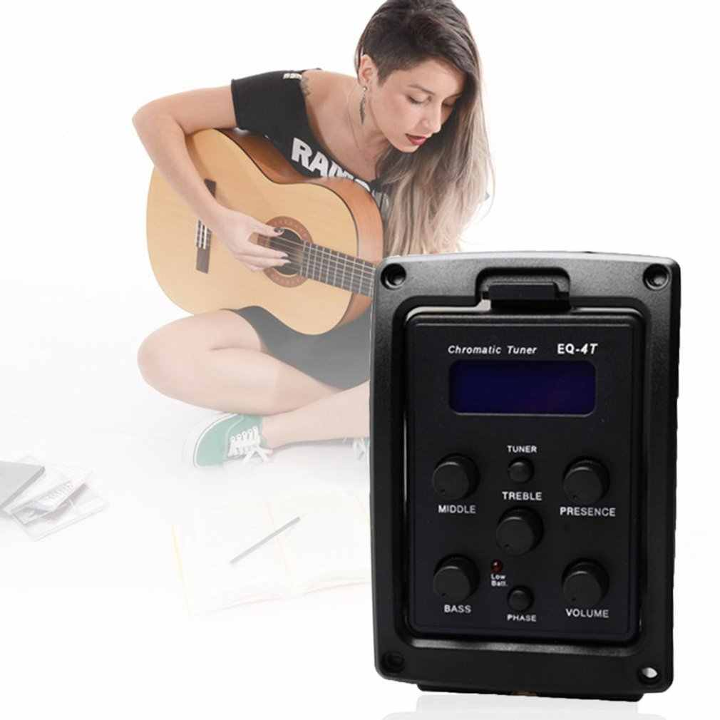 EQ-4T 4 Band Pickup EQ Preamp with Tuner For Acoustic Guitar