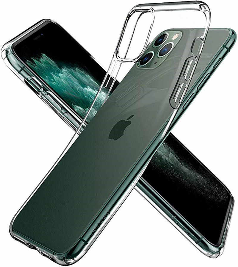 Luxe Transparante Zachte TPU Siliconen Case Voor iPhone 11 pro XS MAX XR 6 7 6S Plus Telefoon Case coque Voor iPhone 8 Plus 5s SE cover