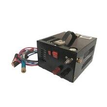 12 فولت 4500psi 300bar 30mpa PCP ضاغط الهواء السيارات مضخة صغيرة PCP مع 220 فولت محول مضخة عالية الضغط سيارة الصيد