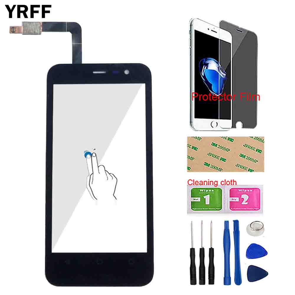 Touch Screen Panel For TP-Link Neffos Y5L Touch Screen Front Glass Digtizer Panel Sensor Tools Protctor Film 3M Glue Wipes
