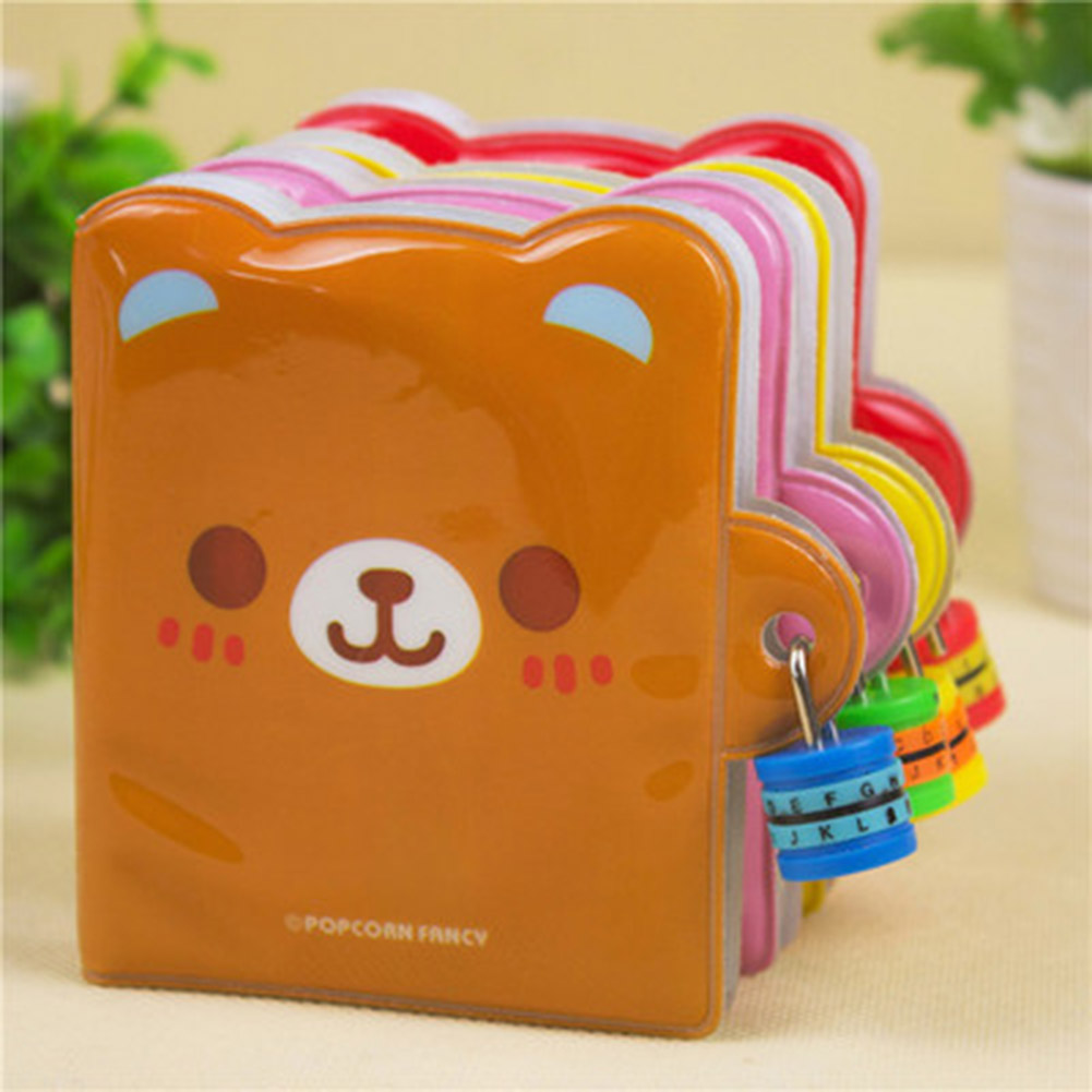 Lovely Goods Gift Password Lock <font><b>Notebook</b></font> Stationery Special Diary Notepad Simple Grateful Magic Funny Color Random image