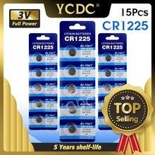 Ycdc 15 個LM1225 BR1225 ECR1225 KCR1225 バッテリーパックの交換 3 v CR1225 リチウム電池電卓 · ウォッチ玩具時計