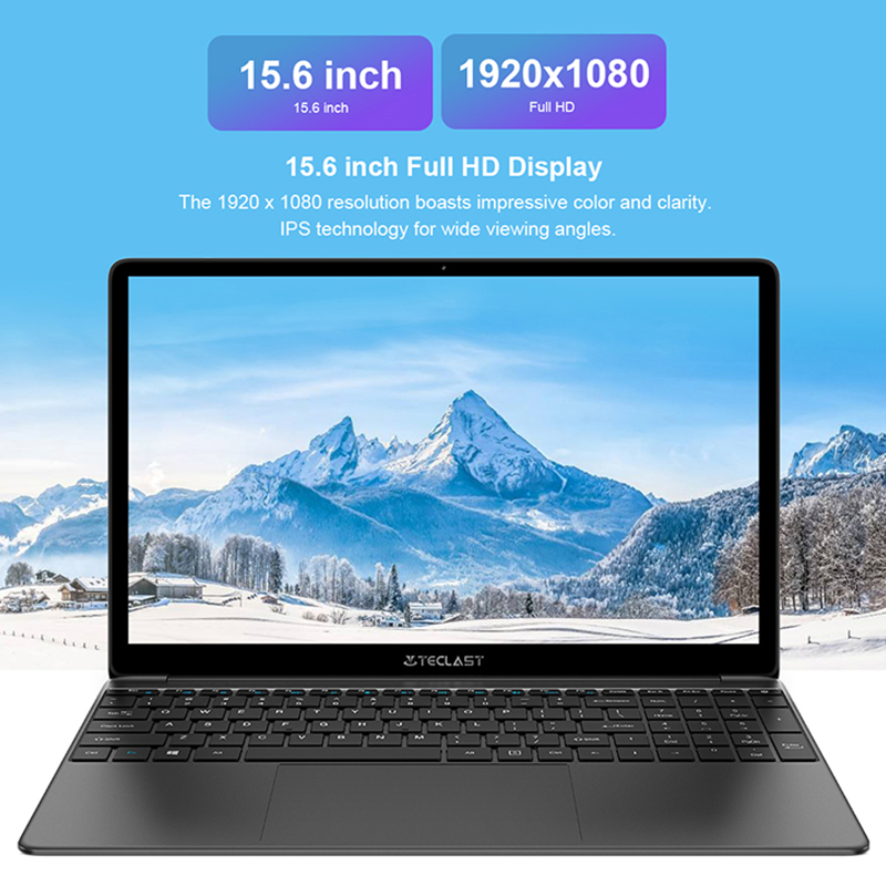 Newest Teclast F15S 15.6 Inch Laptop Windows 10 Notebook 1920×1080 Intel Apollo Lake Laptops 8GB RAM 128GB SSD Dual Wifi HDMI Cellphones & Telecommunications 1ef722433d607dd9d2b8b7: China|Poland|Russian Federation|Spain