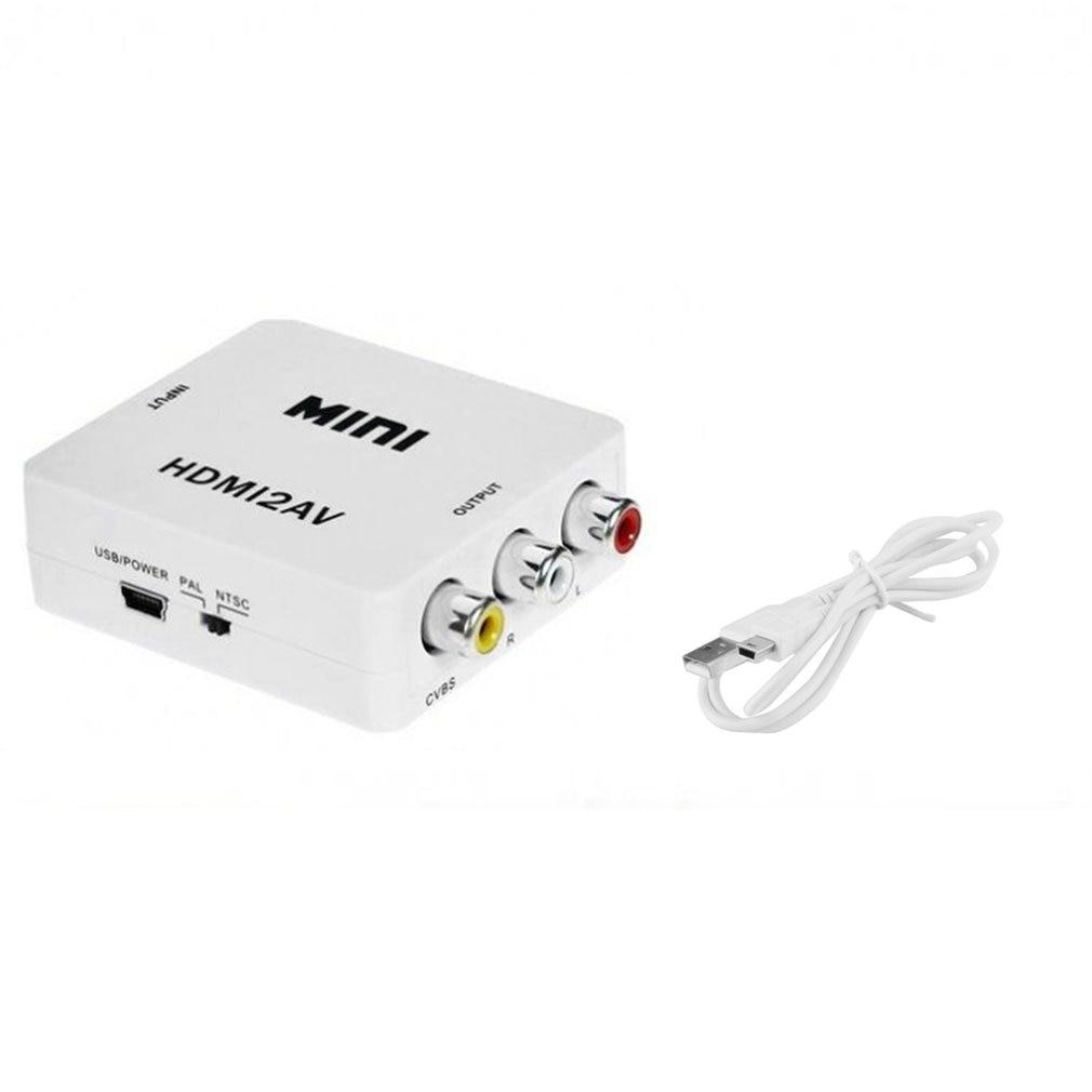 HDMI в мини композитный CVBS RCA AV видео конвертер адаптер старый ТВ 1080p HRCA Кабели USB      АлиЭкспресс