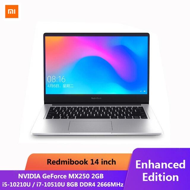 Originale Xiaomi RedmiBook Del Computer Portatile Pro da 14.0 pollici i7-10510U NVIDIA GeForce MX250 8GB DDR4 di RAM SSD DA 512GB Ultra Sottile notebook Argento