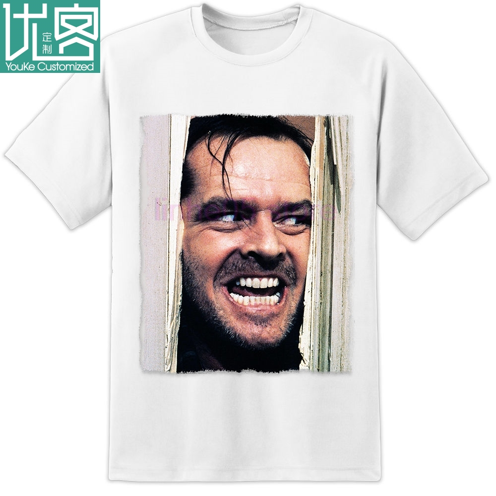 The Shining Movie Stanley <font><b>Kubrick</b></font> Jack Nicholson Door T Shirt S 3xl 2020 Summer Men S image