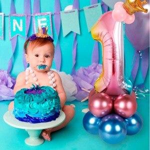 Image 2 - FENGRISE Ballons 1st Geburtstag Ballon Air 2nd Eine 1 2 Jahr Alt Erste Geburtstag Party Decor Latex Ballon Kinder Favor baby Dusche