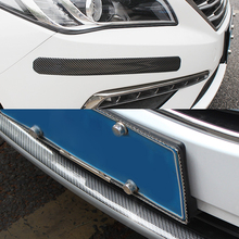3/5/7/10cm naklejki samochodowe 5D guma z włókna węglowego stylizacja zabezpieczająca listwa progowa towary dla KIA Toyota BMW Audi Mazda Ford Hyundai