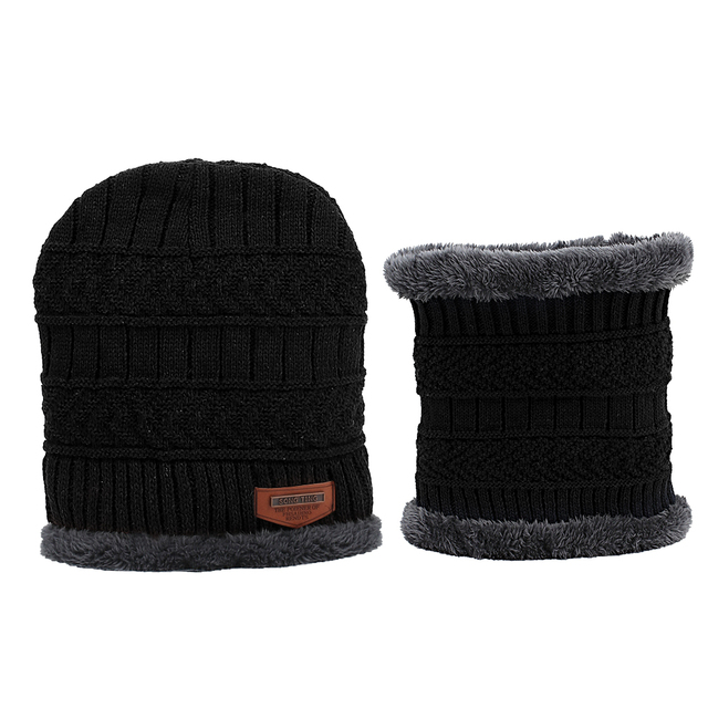 New Year Winter Hats Caps For Men Family Matching Parents Children Beanie Scarf Set Warm Knitted Hat Winter Cap gorras hombre 4