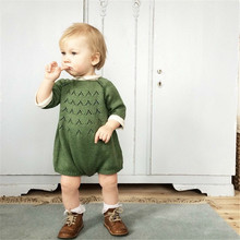 New Born Baby Girls Rompers Knit Boys Clothes Kawaii Winter Romper Maka Kids Jumpsuits  Brand Kids Sweaters 40 new born baby winter cotton jumpsuits warm hoodied romper kids boys girls suits mama toddler clothing