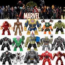 Big Size Building Block Avengers Super Hero Thanos Hulk Iron Man Spiderman Hulk Antman Batman Black Panther playmobil Toys Kids guxen hero hulk head