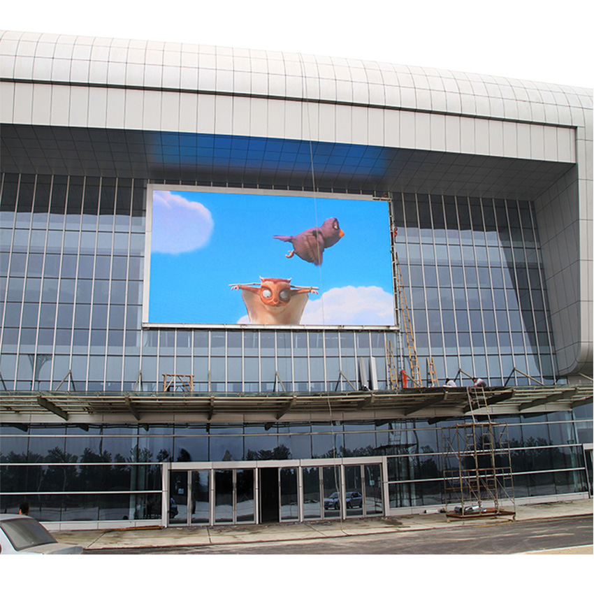 Outdoor Advertising Led Display P8 SMD3535 Screen Die Casting Aluminum Cabinet 512×512mm Full Color Video Wall