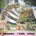 Новинка Tieyi свадебное кольцо с одной трубкой рамка фон украшение АРКА круглый цветок рамка одиночное кольцо проекты