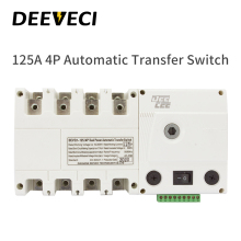 ATS 100A 125A 4P 220V Low voltage Dual power Automatic Transfer Switch Generator PC Class Changeover switch