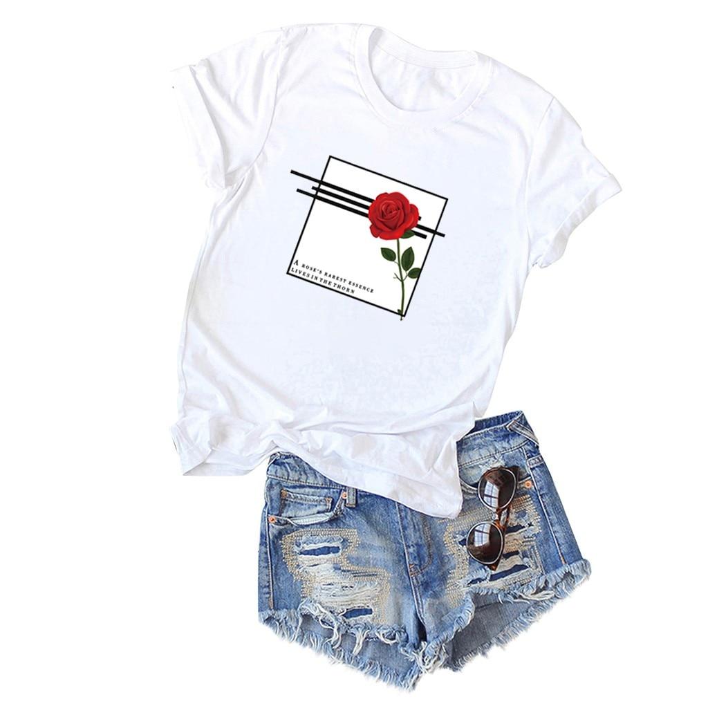 O-Neck T- Shirts Womens Fashion Short Sleeve Pocket Sack Plus Size Polyester Casual Top koszulka damska camisas mujer damskie
