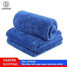 LUDUO 40*50CM 3Pcs Car Wash Microfiber Towels Cleaning Polish Drying Detailing Cloth Soft Absorbent Car Body Refurbishing Tools