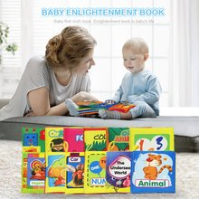 Baby Cloth Book Early Education Toy English Palm Book Animal Digital Shape Recognition Green Cloth Book все цены