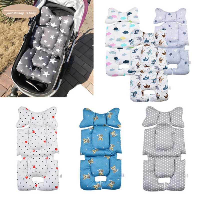 Baby Print Stroller Pad Car Seat Trolley Chair Cushion Pad Mattresses Pillow Cover Child Carriage Thicken Warm Cushion Hot Sale