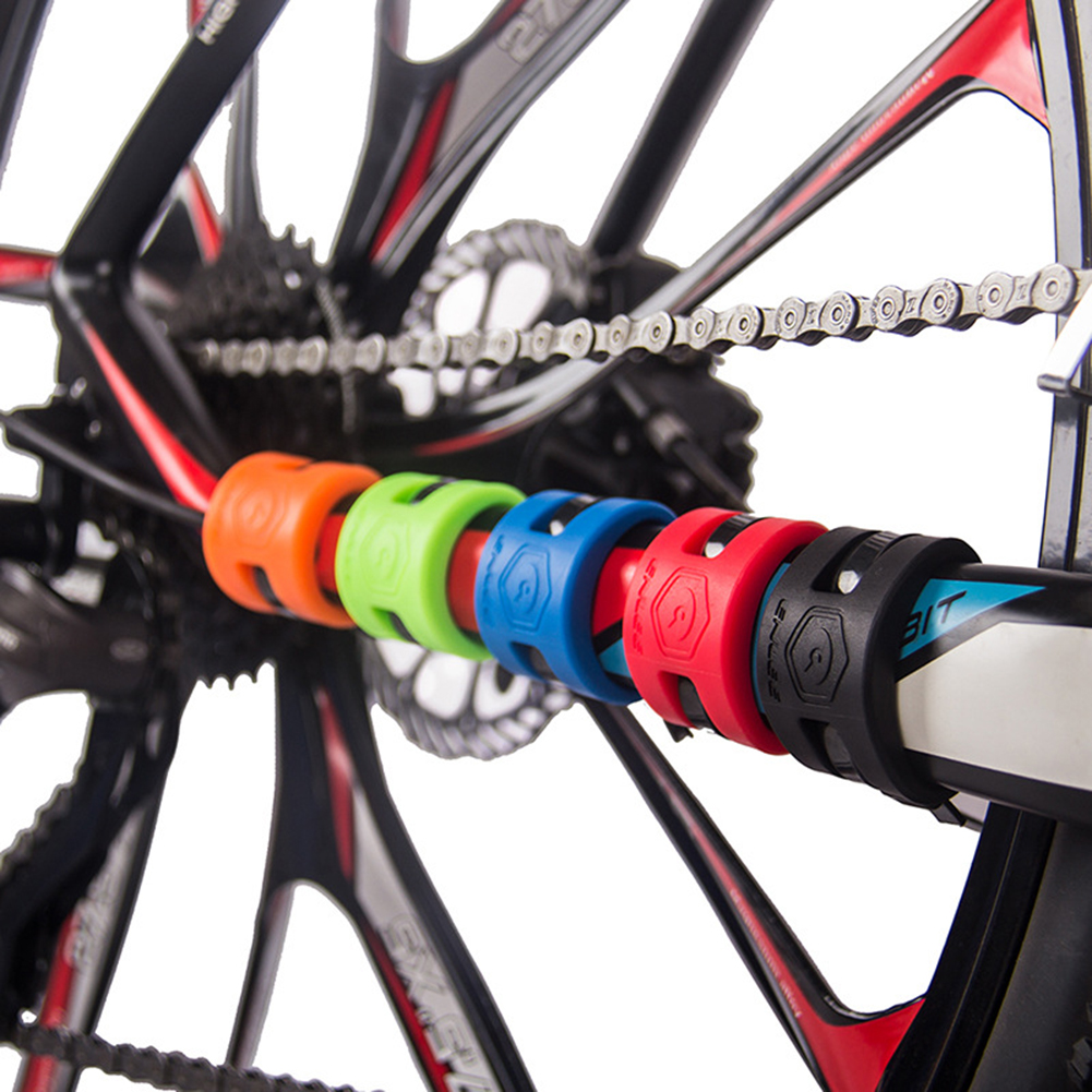 MTB Road Bike Chain Protector Stickers Bicycle Front Fork Rubber Protective Ring Frame Cover Guard Bicycle Riding Parts