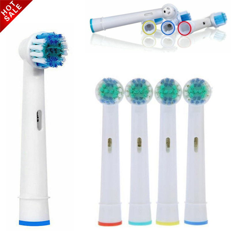 Hot 20pcs/4pcs Replacement Toothbrush Heads Electric Brush Fit for Oral B Braun Models Power Triumph Precision Clean image