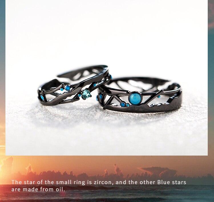 Women\u2019s black milky way rings