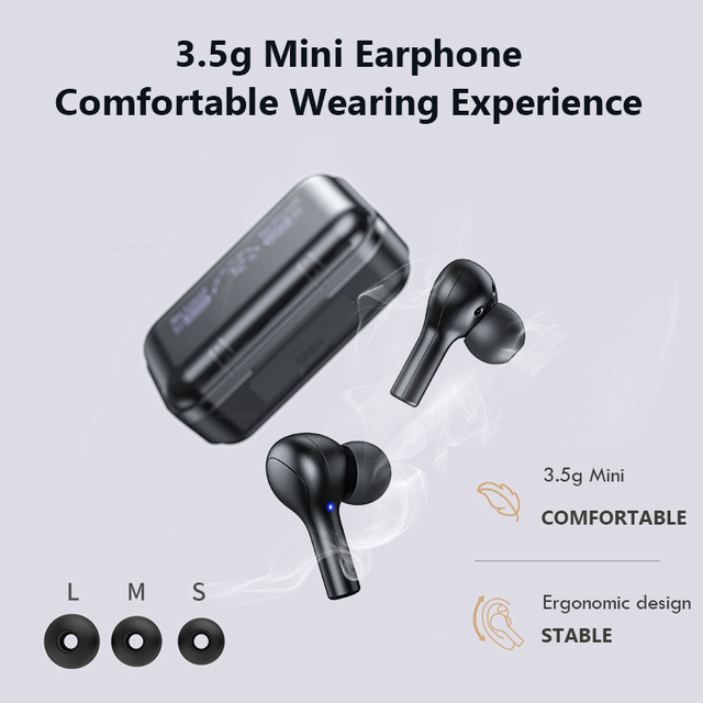 TWS Bluetooth 5.0 Earphones Waterproof Headset With Microphones Sport Earbuds 4