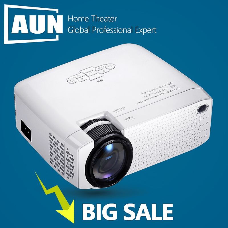 AUN мини-проектор D40 3D дома Театр портативный видеопроектор Full HD 1920x1080P видео проектор через HDMI VGA совместим с ТВ коробка