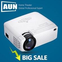 Aun mini projetor d40 3d de cinema em casa portátil beamer completo hd 1920x1080p vídeo projetor via hdmi vga compatível com caixa de tv