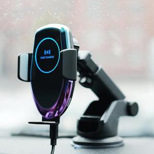 Image 5 - QI 15W voiture sans fil Auto Hholder chargeur de verre à base daspiration véhicule sans fil pour iphone xr xiaomi huawei câble fort