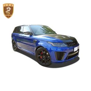 Image 5 - Чехол для переднего двигателя из настоящего углеродного волокна подходит для Land Rover Range Rover Sport SVR Style 2014 2015 2016 2017 2018 2019