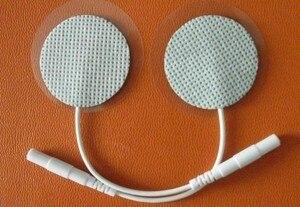 50pcs/lot(25 Pair) round(Diameter: 3.5cm) non-woven fabrics Self adhesive Tens Electrode Pads, Medical equipment electrode pads