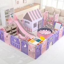Детская игровая ограда для детей от 1 до 4 лет, семейная крытая детская пластиковая безопасная домашняя площадка для ползания малышей, комнатное ограждение для малышей, игровая площадка