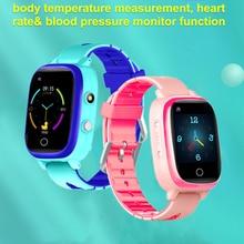 Smart kids watches GPS Tracker 4G Watches GPS WIFI Location Body Temperature ECG/BPG Blood Pressure Video Call Waterproof T5S
