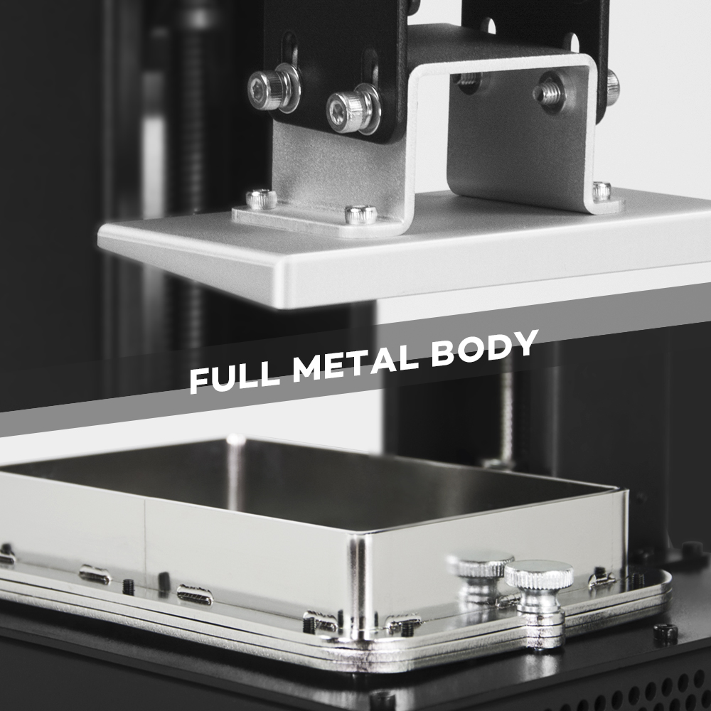 Image 4 - LONGER ORANGE 10 LCD SLA zestaw do drukarka 3D z żywicą Matrix oświetlenie UV żywicy drukarki 3D w całości z metalu ciała 3D druku żywicy drukarki Printer 3D UV PrinterDrukarki 3D   -