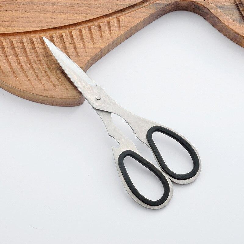 Yangjiang Stainless Steel Scissors Kitchen Multi-functional Scissors Household Strong Scissors Quan Gang Jian Shears