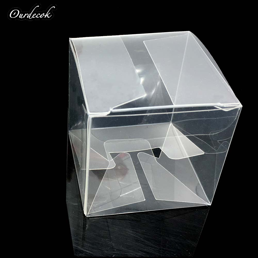 1000 sztuk kwadratowy pcv prezent urodzinowy Box Wedding Favor Holder cukierki czekoladowe pudełka pudełka czekoladek 5x5x5cm na DHL/EMS bezpłatny statku w Torby na prezenty i przybory do pakowania od Dom i ogród na  Grupa 1